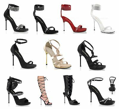 Fabulicious CHIC-26 4 1//2 Inch Heel 1//4 Inch Criss Cross Lace Up Sandal