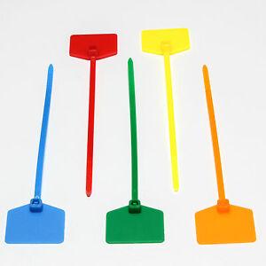 kabelbinder 120mm beschriftbar mit beschriftungsfeld 12cm verschiedene farben ebay. Black Bedroom Furniture Sets. Home Design Ideas