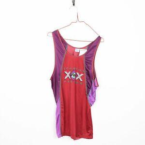 Vintage-90-s-ASICS-Big-Logo-Running-Debardeur-T-Shirt-Rouge-Large-L