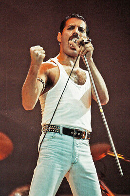 L0069 24x36 inch Art Decor Freddie Mercury Poster Queen Legendary Singer Rock