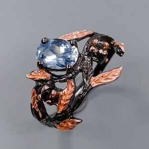 Blue Topaz Ring Silver 925 Sterling Special Sale jewelry  Size 7 /R144722