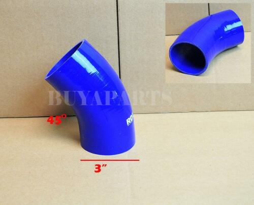 """3/"""" 76mm 45 degree Turbo//Intake//Intercooler 3-PLY Silicone Coupler Hose RED"""