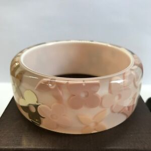 0f71cbf8ef7 Image is loading Louis-Vuitton-Farandole-Monogram-Bracelet-Bangle-Pink-X-