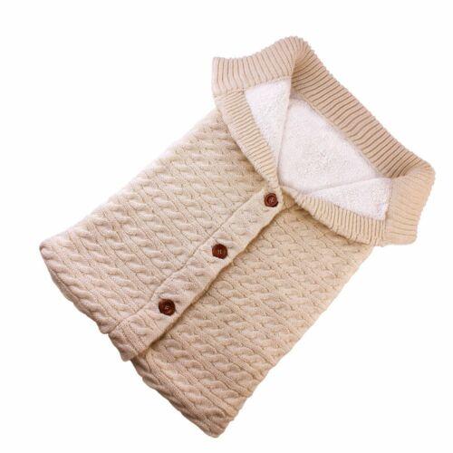 Newborn Baby Blanket Knit Crochet Swaddle Sleeping Bag Stroller Wrap Sleepsacks