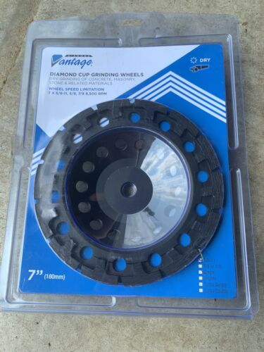 7x5//8-11 7//8 7 in 180mm DIAMOND VANTAGE 07HDTC Grinding Wheel,Cup 5//8