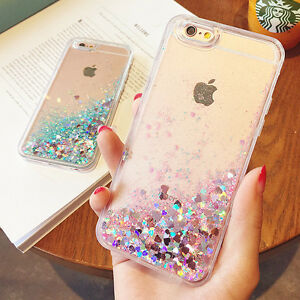 best sneakers 9ab95 f1354 Details about Sparkle Glitter Dynamic Liquid Quicksand Case Cover For  iPhone X 6s 8 7 Plus SE