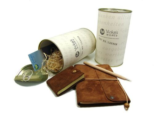 Lederbuch Geschenk Set - Travel Can Diary Bamby A5 & Friends - 4711.A5.100.9