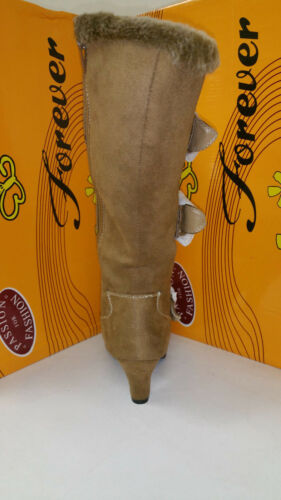 Women/'s Forever Link Maggie 78 High Camel Boots Multiple Sizes Brand New