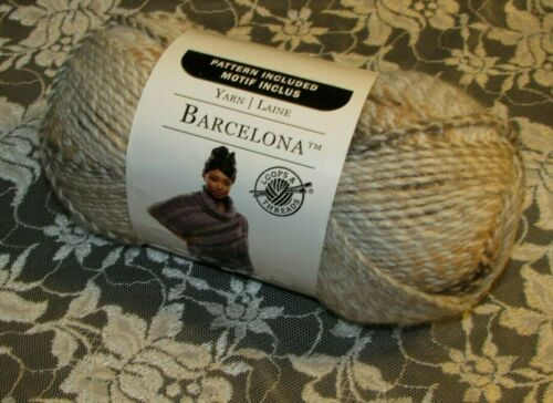 NEW LOOPS THREADS BARCELONA Hazel Brown and Gray Yarn 200 g Bulky Acrylic Turkey
