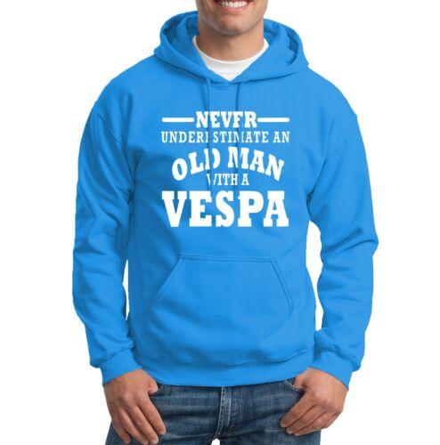 Vespa Never Underestimate an Old Man  Mens Hoodies