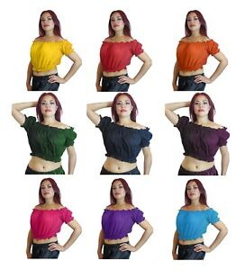 92e1383a962 M L XL XXL upto PLUS SIZE Choli Belly Dance Tribal Gypsy Top Costume ...
