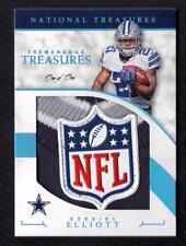 ET) 2016 National Treasures Ezekiel Elliott Tremendous NFL LOGO SHIELD PATCH 1/1