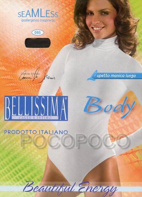 in Microfibra art.99 Body Dolcevita  donna manica lunga