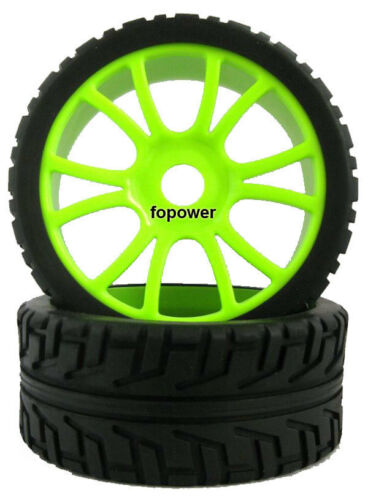RC 4pcs Sponge Liner Tyre Tires /& Wheel Rim Fit HSP 1:8 Off-Road Buggy 84G-803