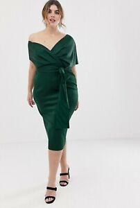 ASOS-DESIGN-76-Curve-Fallen-Shoulder-Midi-Pencil-Dress-With-Tie-Details-Green