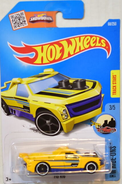 Hot Wheels 2017 Hw Ride-Ons # 3/5 Fig Rig Giallo