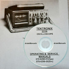 TEKTRONIX 2225 OPERATING & SERVICE MANUALS (GOOD SCHEMATICS)