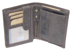 RFID-NFC-Geldboerse-Kombiboerse-Naturleder-Brieftasche-Geldbeutel-Bueffelleder