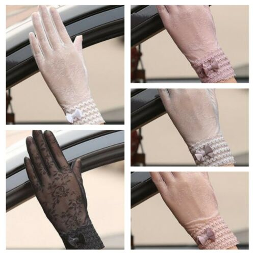 Summer Women Sun UV Protection Outdoor Breathable Lace Driving Gloves New