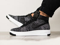 NIKE AIR FORCE 1 ULTRA FLYKNIT MID OREO UK SIZE 6 EUR 40 MENS SHOES TRAINERS
