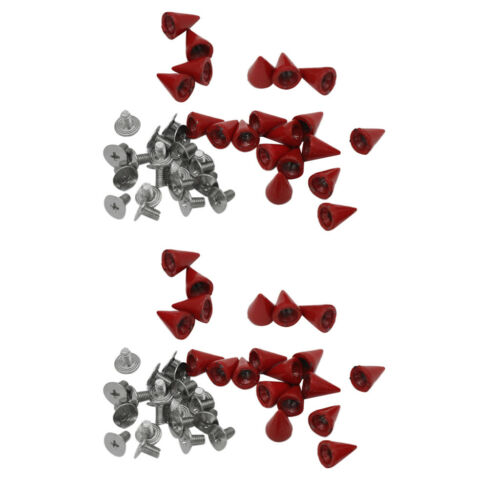 40x Kegel Nieten Ziernieten Spitzenieten Schmucknieten Kegelnieten Spikes Spitz