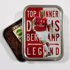 aa3c51c541f Dennis Bergkamp Arsenal 2oz Tobacco Tin Baccy Football Legend Storage Gift  LG21