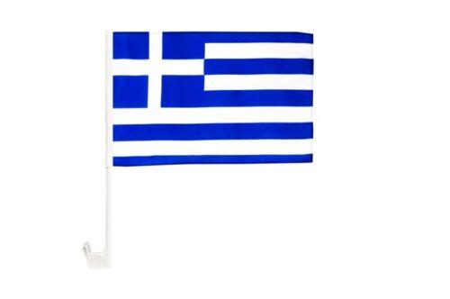 Griechenland Autofahne Autoflagge Fahnen Auto Flaggen 30x40cm