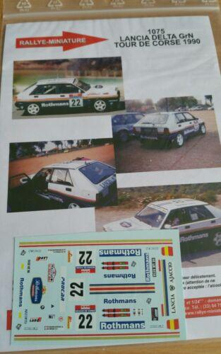 DECALS 1//24 REF 1075 LANCIA DELTA BERNARDINI ROTHMANS RALLYE TOUR DE CORSE 1990