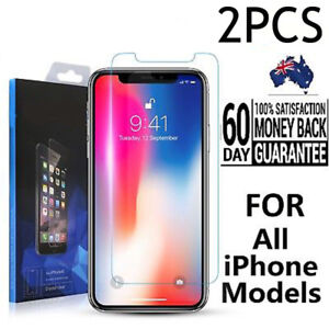 2X-Genuine-9H-Tempered-Glass-Screen-Protector-for-Apple-iPhone-XS-8-7-6S-Plus