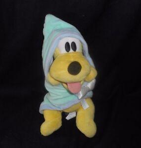 12 Disney Parks Babies Baby Pluto Puppy Dog W Blanket Stuffed