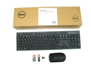 Genuine-DELL-KM636-Wireless-Cordless-Keyboard-Mouse-Set-Kit-RUSSIAN-Layout-Refur
