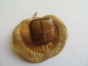 1960s-Vintage-Sm-Square-Faux-Leather-Lt-Brown-Jacket-Replacement-Button-18mm