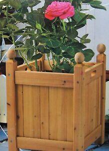 blumen kasten pflanz k bel holz pflanzen kiste topf bertopf 30x30 cm mit griff ebay. Black Bedroom Furniture Sets. Home Design Ideas