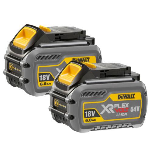 DeWalt DCB546 18V//54V 6.0Ah Li-Ion flexvolt XR Slide Batterie Twin Pack