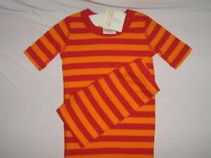 Hanna Andersson 90 3T Boys Pajamas Short John Organic Cotton NEW Yellow Stripe 3