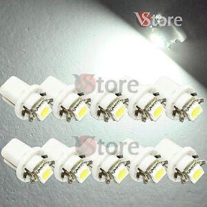10-LED-T5-B8-5D-SMD-BIANCO-Per-Quadro-Strumenti-Cruscotto-Lampade-Lampadine-Luci