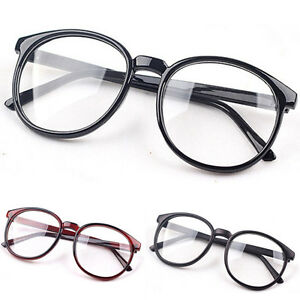 Retro-Round-Frame-Clear-lens-Women-Eyeglasses-Glasses-Vintage-Fashion-Unisex