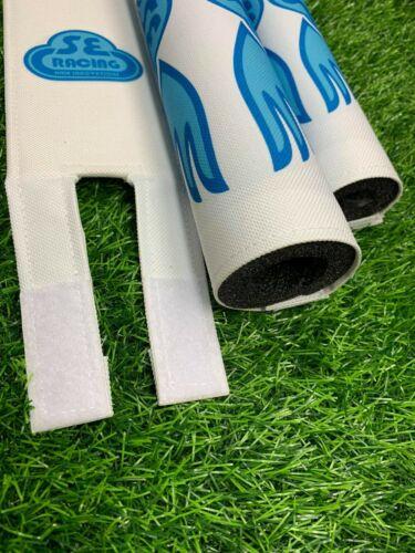 PK RIPPER Pad Set frame handlebars bar Stem bmx Re Made white baby blue