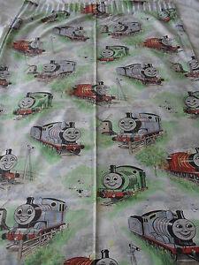 Vintage Thomas Tank Curtains 63'' wide 54''drop 3'' heading 'needs restringing'