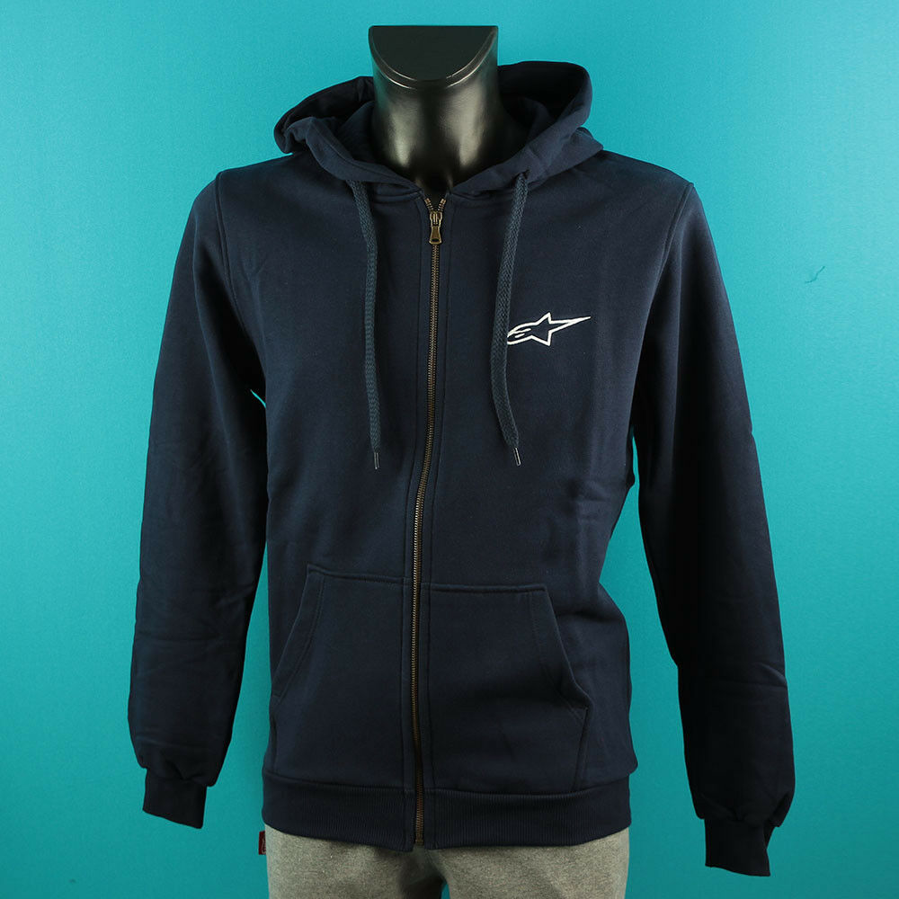 Alpinestars Hoodie Man Sweatshirt Mens as081 bluee   on sale 70% off