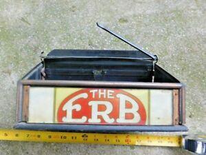 ANTIQUE ERB CIGAR RETAIL DISPLAY BOX WITH ALERT BELL VINTAGE ADVERTISING