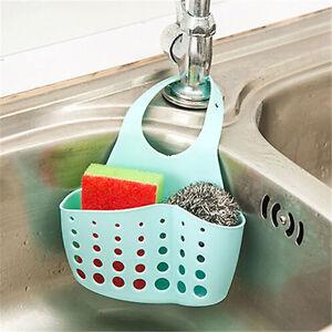 Image Is Loading Kitchen Sink Sponge Holder  Bathroom Hanging Strainer Organizer
