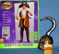 Captain Hook Pirate Costume;boys-8-10;hat;pants-boot Tops;jacket;sash;jabot;hook