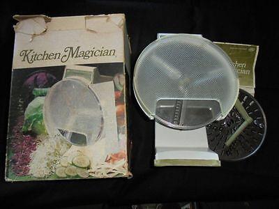 Kitchen Magician Food Vintage Cutter Popeil Processor S 1970 Slicer Green Box Sh
