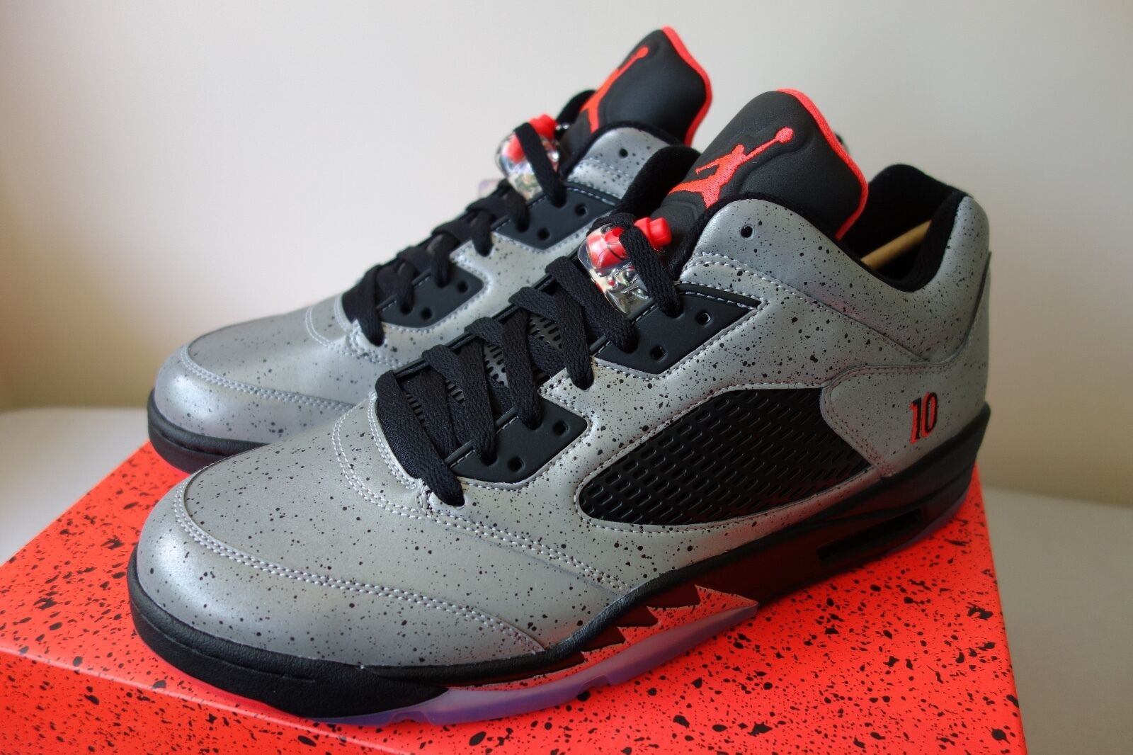 Nike Low Air Jordan 5 Retro Low Nike Neymar Jr 846315 025 Infrared Silver off white Fox 1 b955c2