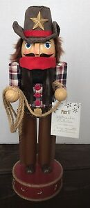 New-Pier-1-Wooden-Nutcracker-Cowboy-Western-Rodeo-Bull-Christmas-Decor
