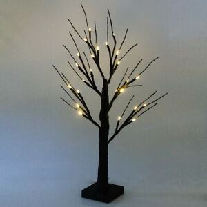 60cm Christmas Halloween Birch Easter Tree Light Up Snowy Twig Tree In//Outdoor