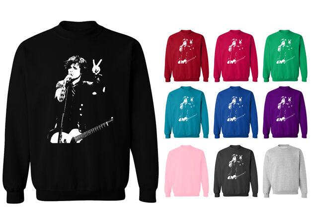 Green Day Christmas Sweater.Billie Joe Armstrong Green Day Unisex Sweater Sweatshirt Jumper New
