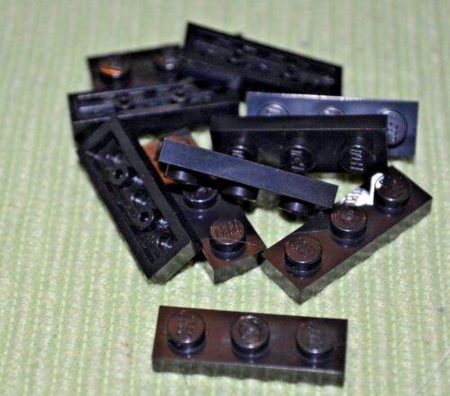 Black 1x3 Standard Plate Bricks ~ Lego ~ NEW ~ Castle 10
