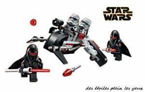 Speeder-d-039-attaque-de-l-039-empire-et-son-equipage-type-lego-Star-Wars-etat-neuf